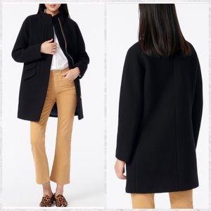J. Crew Stadium Cloth Wool Blend Cocoon Coat